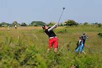Dylan Brophy (Castleknock) on the 2nd during Round 4 of the East of Ireland Amateur Open Championship sponsored by City North Hotel at Co. Louth Golf club in Baltray on Monday 6th June 2016.<br /> Photo by: Golffile   Thos Caffrey