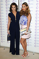 Jessica Wright and Ferne McCann arriving at James' Jog On To Cancer Event, Kensington Roof Gardens, London. 09/04/2014 Picture by: Alexandra Glen / Featureflash