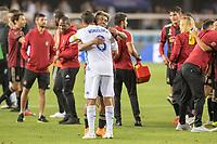 San Jose, CA - Wednesday September 19, 2018: Josef Martinez, Chris Wondolowski during a Major League Soccer (MLS) match between the San Jose Earthquakes and Atlanta United FC at Avaya Stadium.