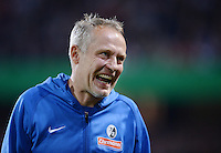 FUSSBALL   DFB POKAL 2. RUNDE   SAISON 2013/2014 SC Freiburg - VfB Stuttgart      25.09.2013 Trainer Christian Streich (SC Freiburg) emotional
