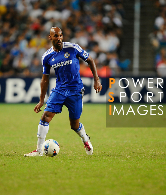 SO KON PO, HONG KONG - JULY 30: Nicolas Anelka of Chelsea in action during the Asia Trophy Final match aganist Aston Villa at the Hong Kong Stadium on July 30, 2011 in So Kon Po, Hong Kong.  Photo by Victor Fraile / The Power of Sport Images