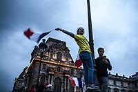 Festeggiamenti per le elezioni di Macron presidente