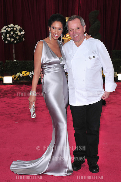 Wolfgang Puck & Galila Assefa Puck at the 80th Annual Academy Awards at the Kodak Theatre, Hollywood, CA..February 24, 2008 Los Angeles, CA.Picture: Paul Smith / Featureflash