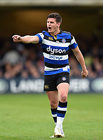 Freddie Burns of Bath Rugby. Aviva Premiership match, between Bath Rugby and Worcester Warriors on October 7, 2017 at the Recreation Ground in Bath, England. Photo by: Patrick Khachfe / Onside Images