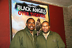 """Lamman Rucker (Why Did I Get Married, """"Marshall Travers"""" in As The World Turns, All My Children poses with Layon Gray as they both star in Layon Gray's Black Angels Over Tuskegee - The Story of the Tuskegee Airman on February 7, 2010 and continuing. Check it out at www.theblackgents.com (Photo by Sue Coflin/Max Photos)"""