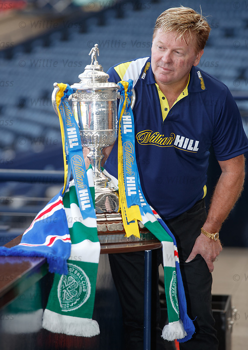 Maurice Johnston at Hampden this morning as he talks about the upcoming Old Firm Scottish Cup semi-final