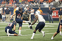 SAN ANTONIO, TX - SEPTEMBER 29, 2018: The University of Texas at San Antonio Roadrunners defeat the University of Texas at El Paso Miners 30-21 at the Alamodome. (Photo by Jeff Huehn)