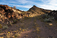 1926-1932 path of Route 66 on the La Bajada Grade south of Santa Fe, New Mexico