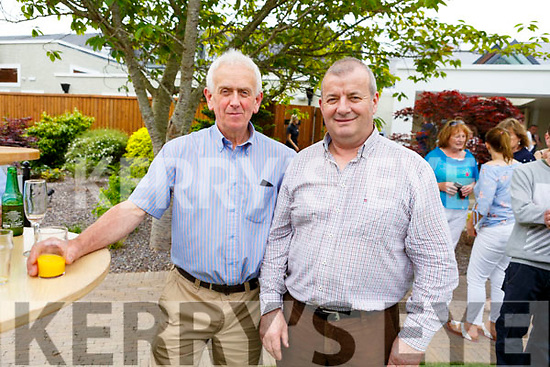 Denis T O'Sullivan (Cork) and James O'Connor (Cork) at the Dairymaster 50th Anniversary BBQ in the Ballygarry Hotel on Sunday.