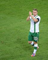 FUSSBALL  EUROPAMEISTERSCHAFT 2012   VORRUNDE Italien - Irland                       18.06.2012 Simon Cox (Irland) ist enttaeuscht