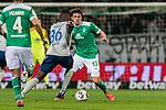 08.03.2019, Weserstadion, Bremen, GER, 1.FBL, Werder Bremen vs FC Schalke 04<br /> <br /> DFL REGULATIONS PROHIBIT ANY USE OF PHOTOGRAPHS AS IMAGE SEQUENCES AND/OR QUASI-VIDEO.<br /> <br /> im Bild / picture shows<br /> Breel Embolo (FC Schalke 04 #36) im Duell / im Zweikampf mit Milos Veljkovic (Werder Bremen #13), <br /> <br /> Foto &copy; nordphoto / Ewert