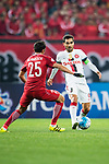 Sydney Wanderers Midfielder Dimas Delgado (R) in action during the AFC Champions League 2017 Group F match between Shanghai SIPG FC (CHN) vs Western Sydney Wanderers (AUS) at the Shanghai Stadium on 28 February 2017 in Shanghai, China. Photo by Marcio Rodrigo Machado / Power Sport Images