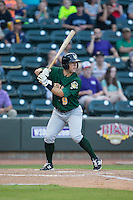 Joe Sever (9) of the Lynchburg Hillcats at bat against the Winston-Salem Dash at BB&T Ballpark on May 29, 2015 in Winston-Salem, North Carolina.  The Dash defeated the Hillcats 8-1.  (Brian Westerholt/Four Seam Images)