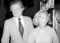 Ted Kennedy Ethel Kennedy 1977<br /> Photo By Adam Scull/PHOTOlink.net