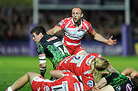 Charlie Sharples of Gloucester Rugby appeals during the European Rugby Challenge Cup semi final match between Gloucester Rugby and Exeter Chiefs at Kingsholm Stadium on Saturday 18th April 2015 (Photo by Rob Munro)