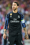 Sergio Ramos of Real Madrid looks on during their 2016-17 UEFA Champions League Semifinals 2nd leg match between Atletico de Madrid and Real Madrid at the Estadio Vicente Calderon on 10 May 2017 in Madrid, Spain. Photo by Diego Gonzalez Souto / Power Sport Images