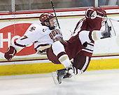 Patrick Alber (BC - 27), T.J. Syner (UMass - 14) - The Boston College Eagles defeated the University of Massachusetts-Amherst Minutemen 5-2 on Saturday, March 13, 2010, at Conte Forum in Chestnut Hill, Massachusetts, to sweep their Hockey East Quarterfinals matchup.