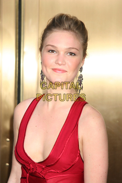 JULIA STILES.Attends the 59th Annual Tony Awards - Red Carpet.Radio City Music Hall in New York City, USA,.June 5th 2005..portrait headshot red low cut dress.Ref: IW.www.capitalpictures.com.sales@capitalpictures.com.©Ian Wilson/Capital Pictures.