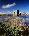 The medieval ruins of Threave Castle on a island in the River Dee near Castle Douglas Scotland UK