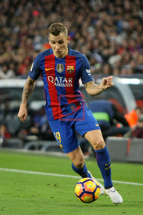 League Santander 2016/2017. Game: 12.<br /> FC Barcelona vs Malaga CF: 0-0.<br /> Lucas Digne.