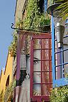 Colourful facade in Neal's Yard, Covent Garden, London, England