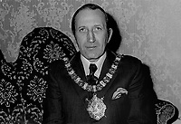Alderman Joseph Cairns, Lord Mayor, Ulster Unionist, Belfast, N Ireland, UK, December, 1971, 197112000547<br /> <br /> Copyright Image from Victor Patterson, 54 Dorchester Park, Belfast, UK, BT9 6RJ<br /> <br /> t1: +44 28 9066 1296<br /> t2: +44 28 9002 2446<br /> m: +44 7802 353836<br /> <br /> e1: victorpatterson@me.com<br /> e2: victorpatterson@gmail.com<br /> <br /> www.victorpatterson.com<br /> <br /> IMPORTANT: Please see my Terms and Conditions of Use at www.victorpatterson.com