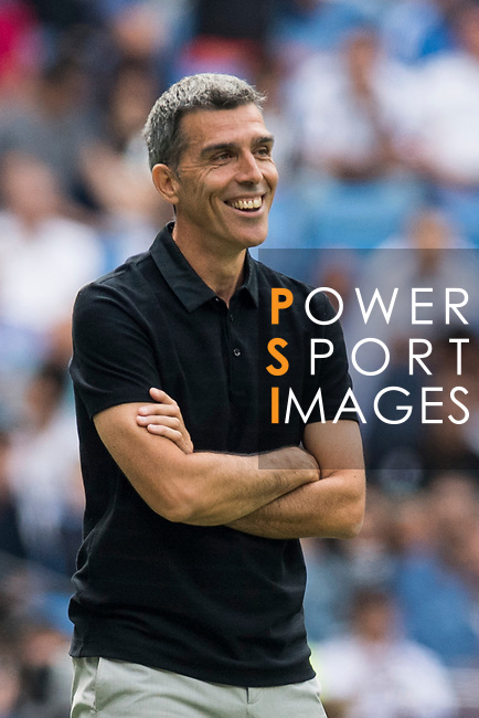 Manager Juan Ramon Lopez Muniz of Levante UD smiles during the La Liga match between Real Madrid and Levante UD at the Estadio Santiago Bernabeu on 09 September 2017 in Madrid, Spain. Photo by Diego Gonzalez / Power Sport Images