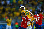 (L-R) Francisco Silva (CHI), Neymar (BRA), Gary Medel (CHI),<br /> JUNE 28, 2014 - Football / Soccer :<br /> FIFA World Cup Brazil 2014 Round of 16 match between Brazil 1(3-2)1 Chile at Estadio Mineirao in Belo Horizonte, Brazil. (Photo by D.Nakashima/AFLO)