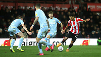 Ollie Watkins of Brentford in action during Brentford vs Leeds United, Sky Bet EFL Championship Football at Griffin Park on 11th February 2020