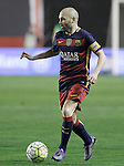 FC Barcelona's Andres Iniesta during La Liga match. March 3,2016. (ALTERPHOTOS/Acero)