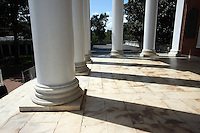 The lawn pavilions and columns located at the University of Virginia in Charlottesville, VA.