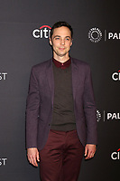 "LOS ANGELES - MAR 21:  Jim Parsons at the 2018 PaleyFest Los Angeles - ""Big Bang Theory, Young Sheldon"" at Dolby Theater on March 21, 2018 in Los Angeles, CA"