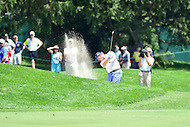 Bethesda, MD - June 26, 2016: Ernie Els (RSA) hits out of sand on the second hole during Final Round of play at the Quicken Loans National Tournament at the Congressional Country Club in Bethesda, MD, June 26, 2016.  (Photo by Philip Peters/Media Images International)