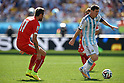 Valon Behrami (SUI), Lionel Messi (ARG),<br /> JULY 1, 2014 - Football / Soccer : FIFA World Cup Brazil 2014 Round of 16 match between Argentina 1-0 Switzerland at Arena de Sao Paulo in Sao Paulo, Brazil.<br /> (Photo by FAR EAST PRESS/AFLO)