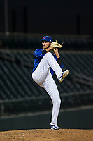 AZL Cubs starting pitcher Brailyn Marquez (58) delivers a pitch to the plate against the AZL White Sox on August 13, 2017 at Sloan Park in Mesa, Arizona. AZL White Sox defeated the AZL Cubs 7-4. (Zachary Lucy/Four Seam Images)