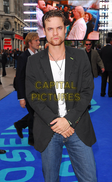 "SHANE WEST.At the UK Film Premiere of ""Poseidon"", .Empire Leicester Square, London, .May 28th 2006..half length beard goatee necklace hands jeans jacket.Ref: CAN.www.capitalpictures.com.sales@capitalpictures.com.©Can Nguyen/Capital Pictures"
