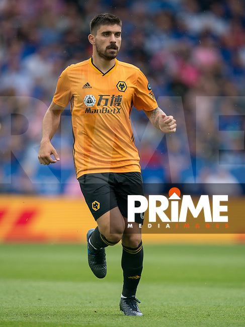 Rubén Neves of Wolves during the Premier League match between Leicester City and Wolverhampton Wanderers at the King Power Stadium, Leicester, England on 10 August 2019. Photo by Andy Rowland.