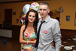 Adam England with his girlfriend Emma Dunne (also celebrating her birthday) at his 21st in The Valley Inn, Dunleer...Picture Jenny Matthews/Newsfile.ie
