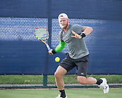 June 13th 2017, Nottingham, England; ATP Aegon Nottingham Open Tennis Tournament day 4;  Sam Groth of Australia winds up a forehand