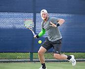June 13th 2017, Nottingham, England; ATP Aegon Nottingham Open Tennis Tournament day 4;  Sam Groth of Australia winds up a forehand