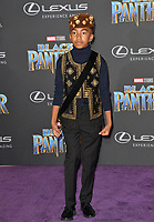 "Miles Brown at the world premiere for ""Black Panther"" at the Dolby Theatre, Hollywood, USA 29 Jan. 2018<br /> Picture: Paul Smith/Featureflash/SilverHub 0208 004 5359 sales@silverhubmedia.com"