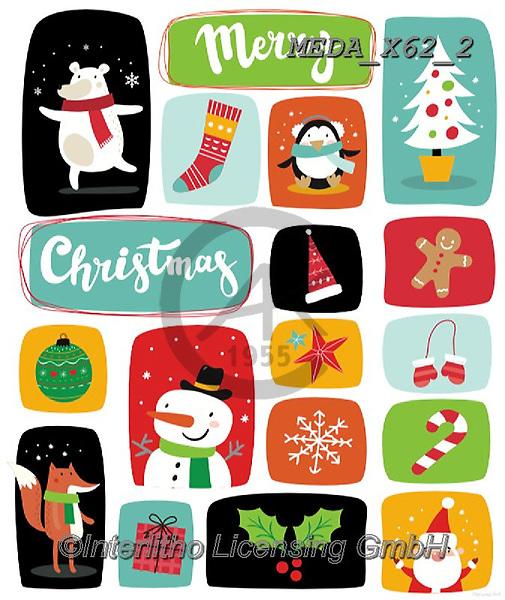 Dreams, CHRISTMAS ANIMALS, WEIHNACHTEN TIERE, NAVIDAD ANIMALES, paintings+++++,MEDAX62/2,#XA# ,sticker,stickers