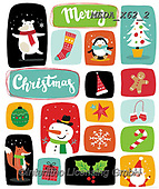 Dreams, CHRISTMAS ANIMALS, WEIHNACHTEN TIERE, NAVIDAD ANIMALES, paintings+++++,MEDAX62/2,#XA# ,sticker,stickers