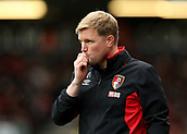 30th September 2017, Vitality Stadium, Bournemouth, England; EPL Premier League football, Bournemouth versus Leicester; Bournemouth Manager Eddie Howe reacts as his team lose possession