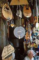 Musical instruments for sale.