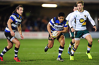 Ben Tapuai of Bath Rugby in possession. Aviva Premiership match, between Bath Rugby and Northampton Saints on February 10, 2017 at the Recreation Ground in Bath, England. Photo by: Patrick Khachfe / Onside Images