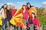 Enjoying the sunshine at the Ardfert Air Show on Sunday l-r: Lisa Quinn Asdee), Carmel McGillicuddy, Suzanne Dineen (Asdee), Pauline Evans and Nuala Quinn with her dog Polly.........