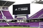Orlando, Florida - Friday January 12, 2018: Combine signage on the stadium videoboard. The 2018 adidas MLS Player Combine Skills Testing was held Orlando City Stadium.