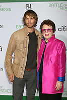 "LOS ANGELES - SEP 16:  Eric Christian Olsen, BIllie Jean King at the ""Battle of the Sexes"" LA Premiere at the Village Theater on September 16, 2017 in Westwood, CA"