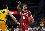SIOUX FALLS, SD - MARCH 7: Ade Murkey #0 of the Denver Pioneers sets up the play against Tyson Ward #24 of the North Dakota State Bison at the 2020 Summit League Basketball Championship in Sioux Falls, SD. (Photo by Richard Carlson/Inertia)